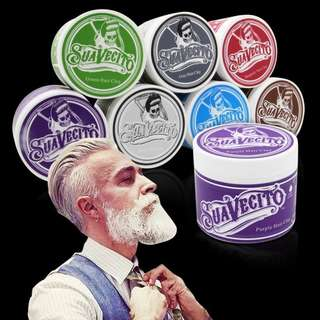 💄 Suavecito Hair Pomade Hair Coloured Clay Wax