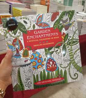 BRAND NEW! Garden Enchantments Adult Coloring Book