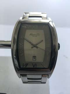 Kenneth Cole Stainless Steel Tank Watch