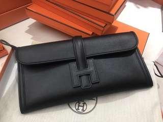 Hermes Jige 29cm 89 nior 黑色 swift