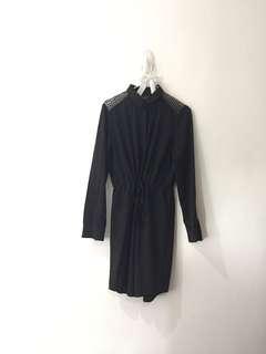 Black Long Sleeve Dress 001