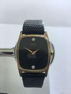 Women's Vintage Seiko Quartz Gold/Diamond Dress Watch