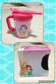 Disney Tumbler w/ handle and spoon