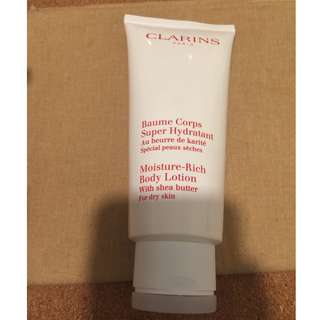Clearing all my skincare. Clarins Moisture rich body lotion for dry skin