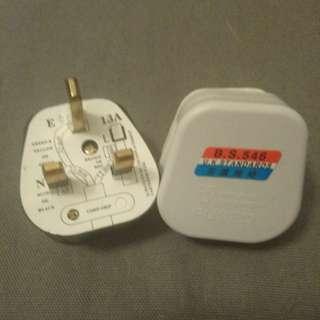 New 全新 英式 CE Plug  三腳插頭