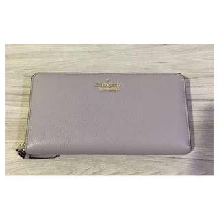 Preloved #katespade (AUTHENTIC) - Soft Lilac Long Zipper Wallet