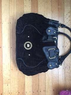 Juicy Couture black plain velour purse