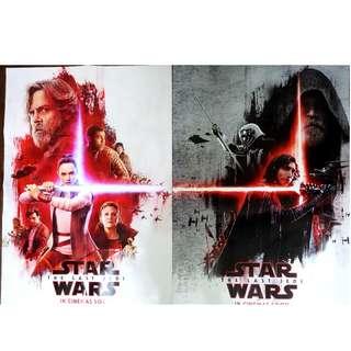 Star Wars 星際大戰:最後的絕地武士 原廠雙面大海報
