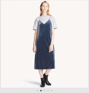 Uniqlo Velour Camisole Maxi Dress