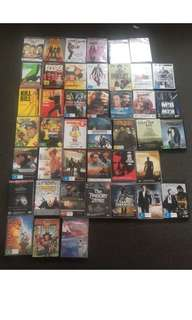 45+ dvds most new