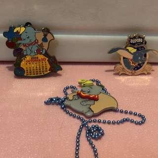 Dumbo necklace and pins