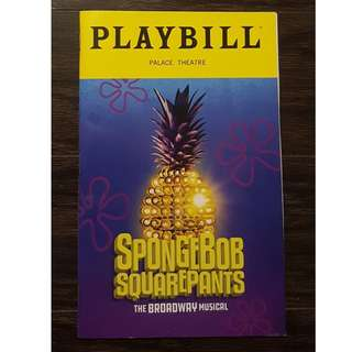 Spongebob Playbill