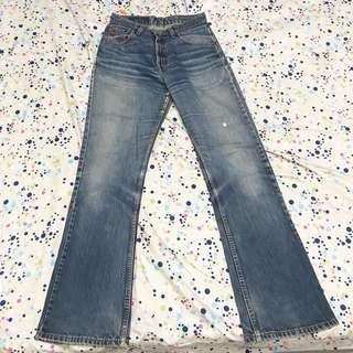 🚚 Levi's 511 寬管刷色牛仔褲(YKK拉鏈非中國製)
