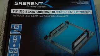 sabrent 2.5 & 3.5 hard drive to desktop 3.5 inch bay bracket