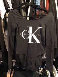 Calvin Klein CK long sleeve bodysuit with snap buttons