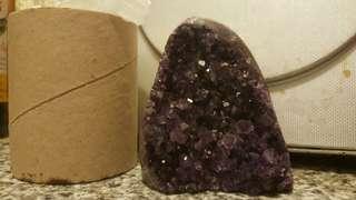 紫晶鎮,紫到發黑是難見一鎖
