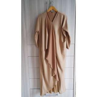 Kaftan Dress Kondangan Gold