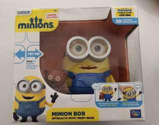 DISPICABLE ME MINIONS Toy Interactive Talking BOB & TEDDY BEAR