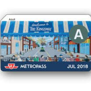 July adult metropass for sale!