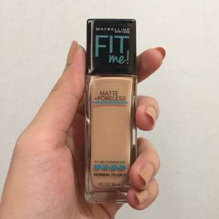 Maybelline fit me liquid foundation (nude beige)