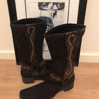 Authentic Leather Cowboy Boot EU40