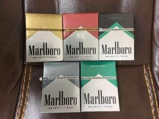 Marlboro USA collection 全新未開2018美國版萬寶路收藏香煙一套五包
