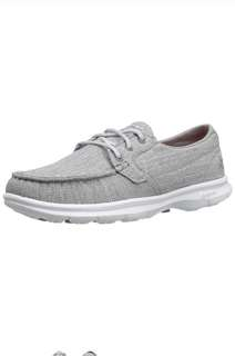 SKECHERS Womens On-The Go Boat Shoes Gray  US8