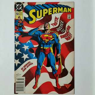 Superman No.53 & Action Comics No.662 comics