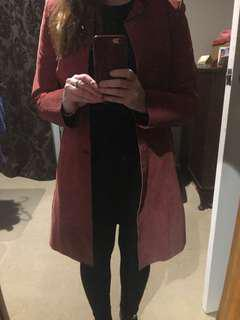Suede 3/4 length Coat