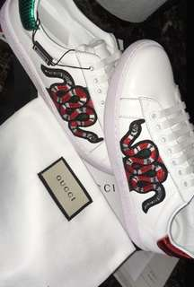 Gucci Ace Embroidered Sneaker Snake
