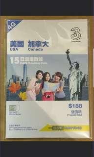 美國加拿大 無限上網數據咭USA CANADA DATA SIM激低3香港自由行必備。