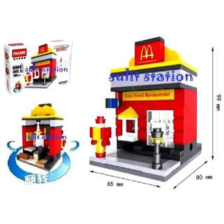 Mc DONALD RESTAURANT LEGO like BUILDING BLOCKS TOY FIGURES