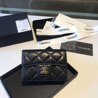 🚚 Chanel coco 現貨 黑色 金cc 銀cc 羊皮 零錢包 翻蓋 短夾 卡夾 北市可面交 刷卡分期