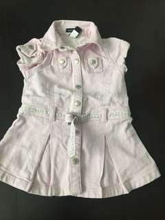 Denim dress baby GAP 6 to 12 mths