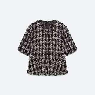 Zara Tweed Peplum