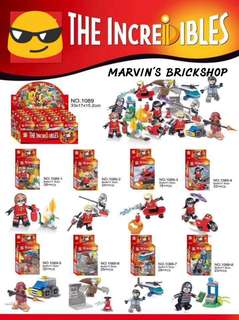 SY1089 The Incredibles 8in1 Minifigures