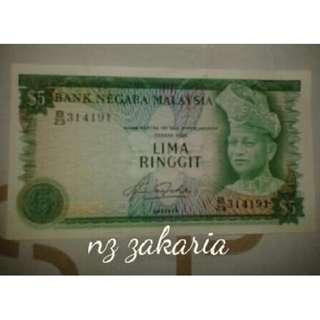 Duit Kertas Lama - RM5