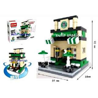 STARBUCKS LEGO like BUILDING BLOCKS TOY FIGURE