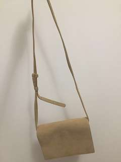 ARITZIA AUXILARY FAUX SUEDE CROSSBODY BAG