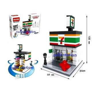 7/11 FOOD GROCERY CONVENIENCE CHAIN LEGO like BUILDING BLOCKS TOY FIGURE