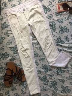 White Leathered Jeans