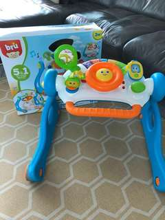 BRU Toys R Us 5 in 1 drive n play baby Gym walker (in good condition with box)