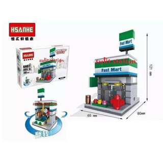 FAMILY FAST MART FOOD CONVENIENCE CHAIN STORE LEGO like BUILDING BLOCKS TOY FIGURES