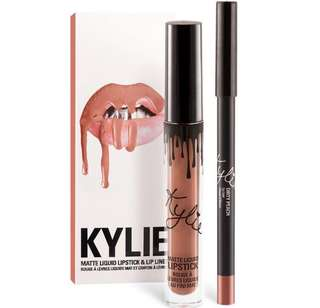Authentic kylie lipkit liquid lip kit lipstick and lip liner dirty peach