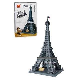 EIFFEL TOWER PARIS WANGE LEGO like BUILDING BLOCKS TOY FIGURE