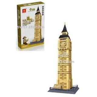 BIG BEN OF LONDON WANGE LEGO like BUILDING BLOCKS TOY FIGURE