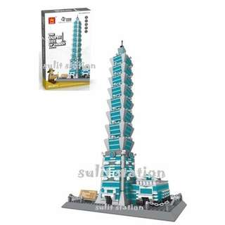 TAIPEI 101 OF TAIWAN WANGE LEGO like BUILDING BLOCKS TOY FIGURE