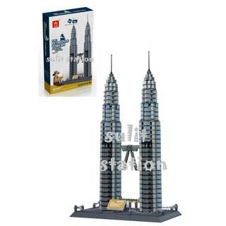 PETRONAS TWIN TOWER MALAYSIA WANGE LEGO like BUILDING BLOCKS TOY FIGURE