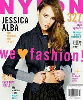 Nylon magazine March 2014 Jessica Alba