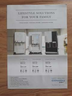 COWAY WATER/AIR PURIFIER